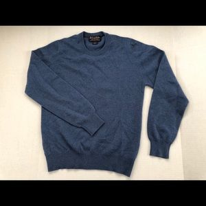 Makers Scottish CASHMERE Crew Neck Sweater BLUE